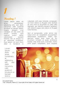 Happy Christmas Word Template, First Inner Page, 11666, Holiday/Special Occasion — PoweredTemplate.com