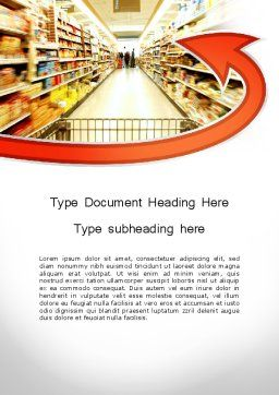 Grocery Shopping Word Template Cover Page