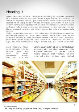 Grocery Shopping Word Template First Inner Page