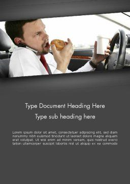 Distracted Driving Word Template, Cover Page, 11674, Cars/Transportation — PoweredTemplate.com