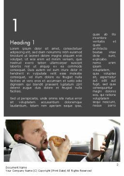 Distracted Driving Word Template, First Inner Page, 11674, Cars/Transportation — PoweredTemplate.com