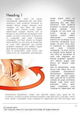Cellulite Treatment Word Template, First Inner Page, 11676, Medical — PoweredTemplate.com