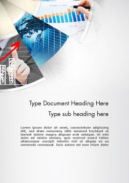 Business Efficiency Word Template, Cover Page, 11678, Business — PoweredTemplate.com