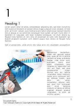 Business Efficiency Word Template, First Inner Page, 11678, Business — PoweredTemplate.com
