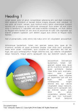 Thinking of Your Next Move Word Template, First Inner Page, 11679, Business Concepts — PoweredTemplate.com