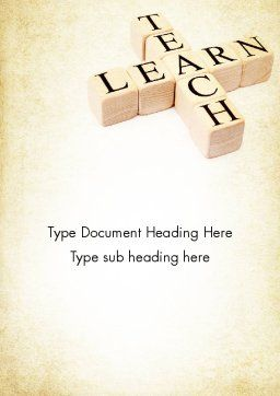 Teach and Learn Word Template Cover Page