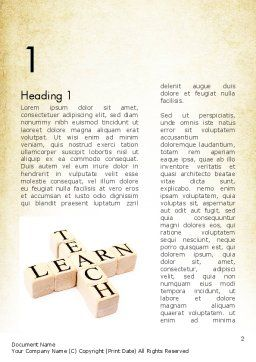 Teach and Learn Word Template First Inner Page