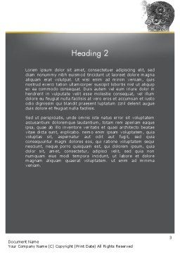 Education and Training Word Template, Second Inner Page, 11681, Education & Training — PoweredTemplate.com