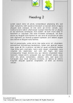 Startup Development Word Template, Second Inner Page, 11682, Business Concepts — PoweredTemplate.com