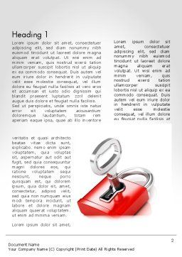 Red Lock Word Template, First Inner Page, 11683, Business Concepts — PoweredTemplate.com
