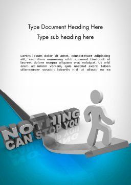 Nothing Can Stop You Word Template, Cover Page, 11684, Business Concepts — PoweredTemplate.com
