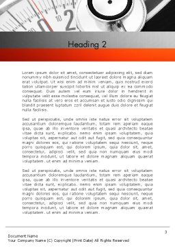 Eating Disorders Word Template, Second Inner Page, 11686, Medical — PoweredTemplate.com
