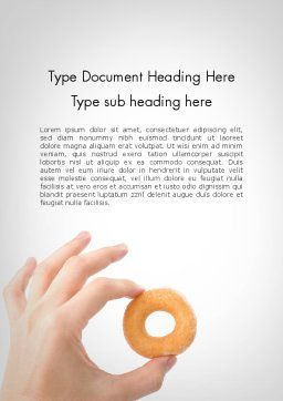 Mini Doughnut Word Template, Cover Page, 11688, Food & Beverage — PoweredTemplate.com