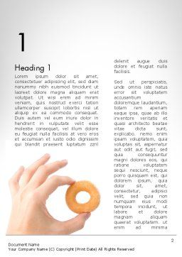 Mini Doughnut Word Template, First Inner Page, 11688, Food & Beverage — PoweredTemplate.com