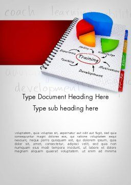 Training Plan with Pie Chart Word Template Cover Page