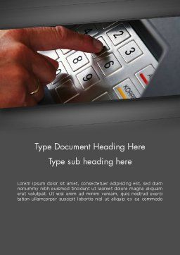 ATM Keypad Word Template, Cover Page, 11690, Technology, Science & Computers — PoweredTemplate.com