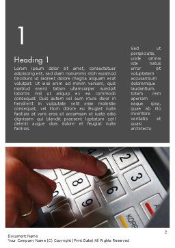 ATM Keypad Word Template, First Inner Page, 11690, Technology, Science & Computers — PoweredTemplate.com