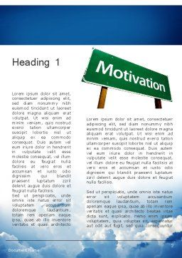 Motivation Sign Word Template, First Inner Page, 11691, Education & Training — PoweredTemplate.com