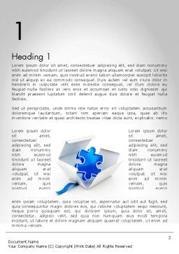 Puzzle Piece in a Box Word Template, First Inner Page, 11694, Consulting — PoweredTemplate.com