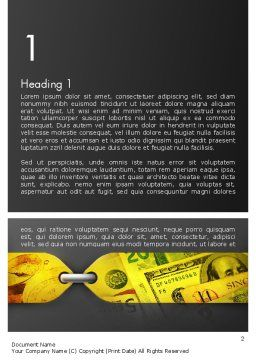 Tied Finances Word Template First Inner Page
