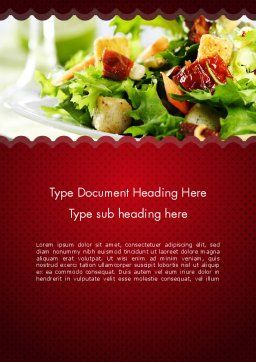 Fresh Salad Word Template, Cover Page, 11699, Food & Beverage — PoweredTemplate.com