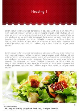 Fresh Salad Word Template, First Inner Page, 11699, Food & Beverage — PoweredTemplate.com
