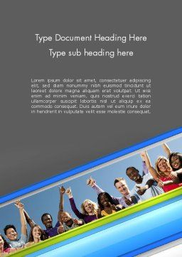 Positive Youth Word Template, Cover Page, 11700, People — PoweredTemplate.com