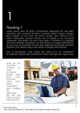 Smiling Builder Word Template, First Inner Page, 11701, Careers/Industry — PoweredTemplate.com