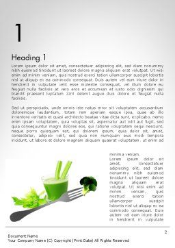 Green Nutrition Drink Word Template, First Inner Page, 11702, Food & Beverage — PoweredTemplate.com