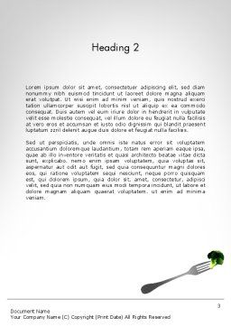 Green Nutrition Drink Word Template, Second Inner Page, 11702, Food & Beverage — PoweredTemplate.com