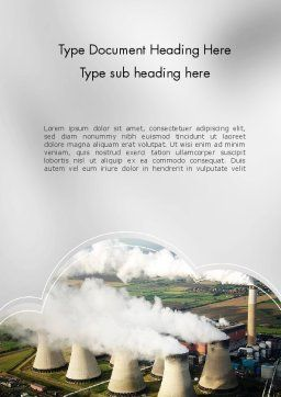Generating Plant Word Template, Cover Page, 11703, Utilities/Industrial — PoweredTemplate.com