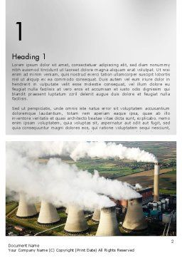 Generating Plant Word Template, First Inner Page, 11703, Utilities/Industrial — PoweredTemplate.com