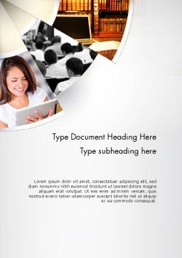 Law Education Word Template, Cover Page, 11706, Education & Training — PoweredTemplate.com