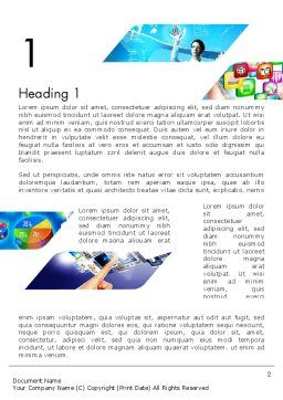 Mobile Apps Theme Word Template, First Inner Page, 11707, Technology, Science & Computers — PoweredTemplate.com