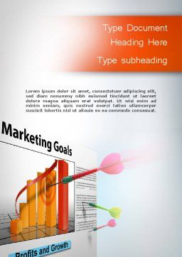 Marketing Business Sales Plan Word Template, Cover Page, 11708, Business Concepts — PoweredTemplate.com