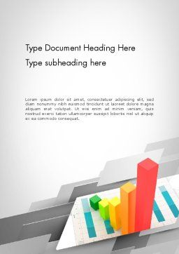 Designing Data Visualization Word Template, Cover Page, 11711, Business Concepts — PoweredTemplate.com