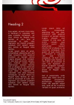Choosing Success Way Word Template, Second Inner Page, 11712, Business Concepts — PoweredTemplate.com