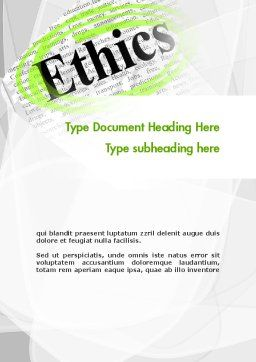 Code of Ethics Word Template, Cover Page, 11713, Business Concepts — PoweredTemplate.com