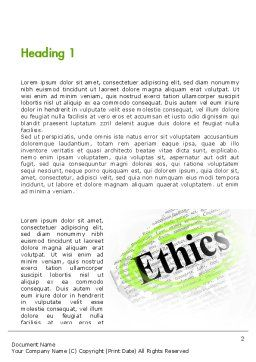 Code of Ethics Word Template, First Inner Page, 11713, Business Concepts — PoweredTemplate.com