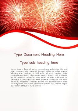 Bright Fireworks Word Template, Cover Page, 11715, Holiday/Special Occasion — PoweredTemplate.com