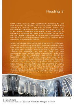 Investigation Services Word Template, Second Inner Page, 11717, Legal — PoweredTemplate.com