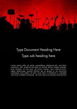 Rock Concert Word Template, Cover Page, 11718, Art & Entertainment — PoweredTemplate.com