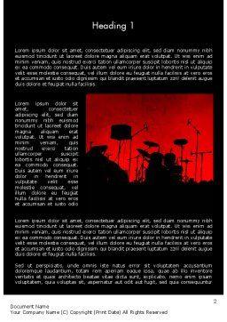 Rock Concert Word Template, First Inner Page, 11718, Art & Entertainment — PoweredTemplate.com