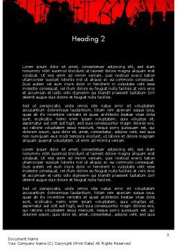 Rock Concert Word Template, Second Inner Page, 11718, Art & Entertainment — PoweredTemplate.com