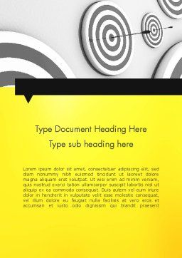 Hit the Bull's Eye Word Template, Cover Page, 11720, Business Concepts — PoweredTemplate.com