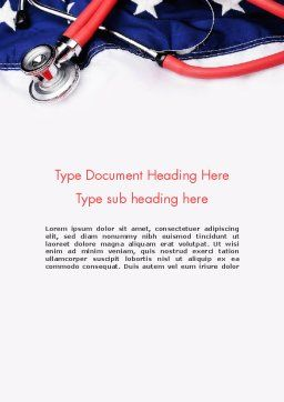 Healthcare Reform Word Template, Cover Page, 11721, Medical — PoweredTemplate.com
