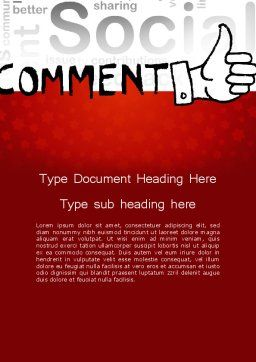 Social Commentary Word Template, Cover Page, 11724, Careers/Industry — PoweredTemplate.com