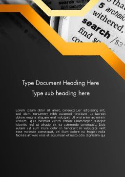Search Concept Word Template Cover Page