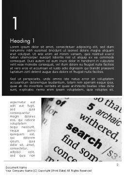 Search Concept Word Template First Inner Page