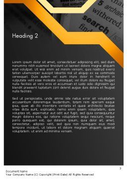 Search Concept Word Template Second Inner Page